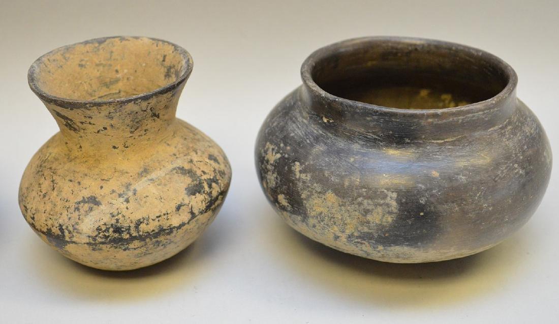 Four Pre-Columbian Black Ware Pottery Vessels - - 2