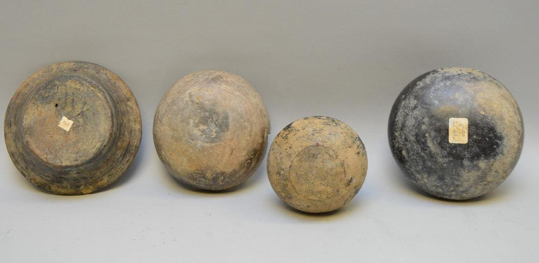 Four Pre-Columbian Black Ware Pottery Vessels - - 4