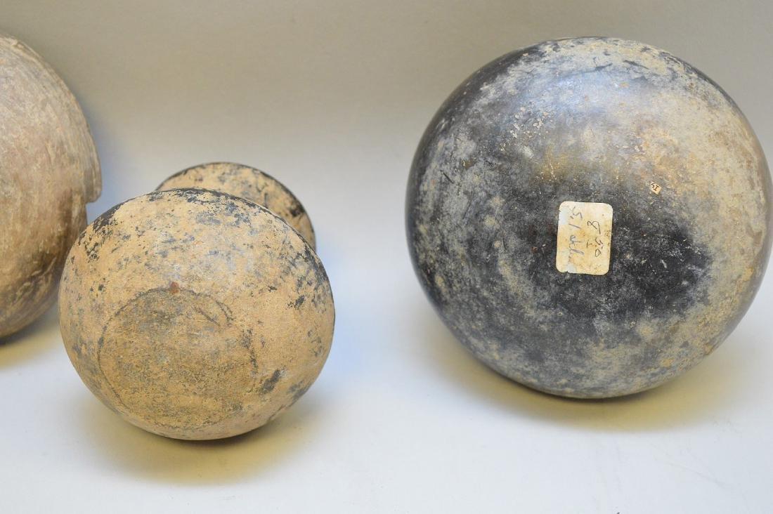 Four Pre-Columbian Black Ware Pottery Vessels - - 5