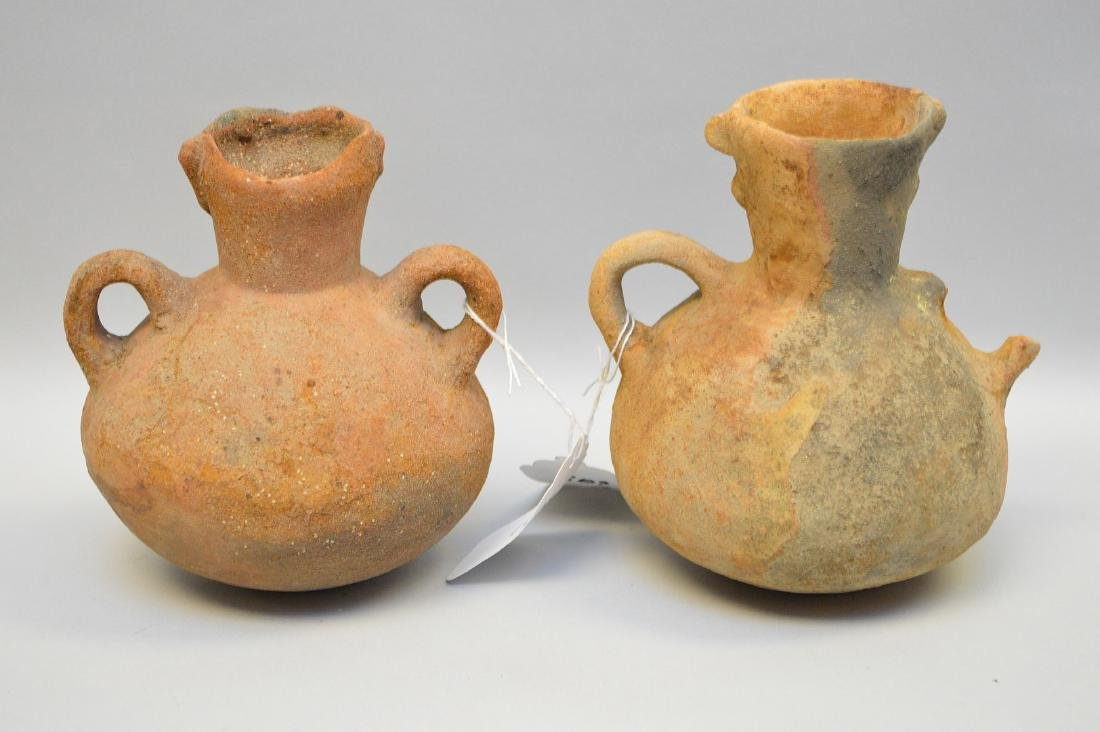 Two Pre-Columbian animal faced effigy pottery vessels, - 4