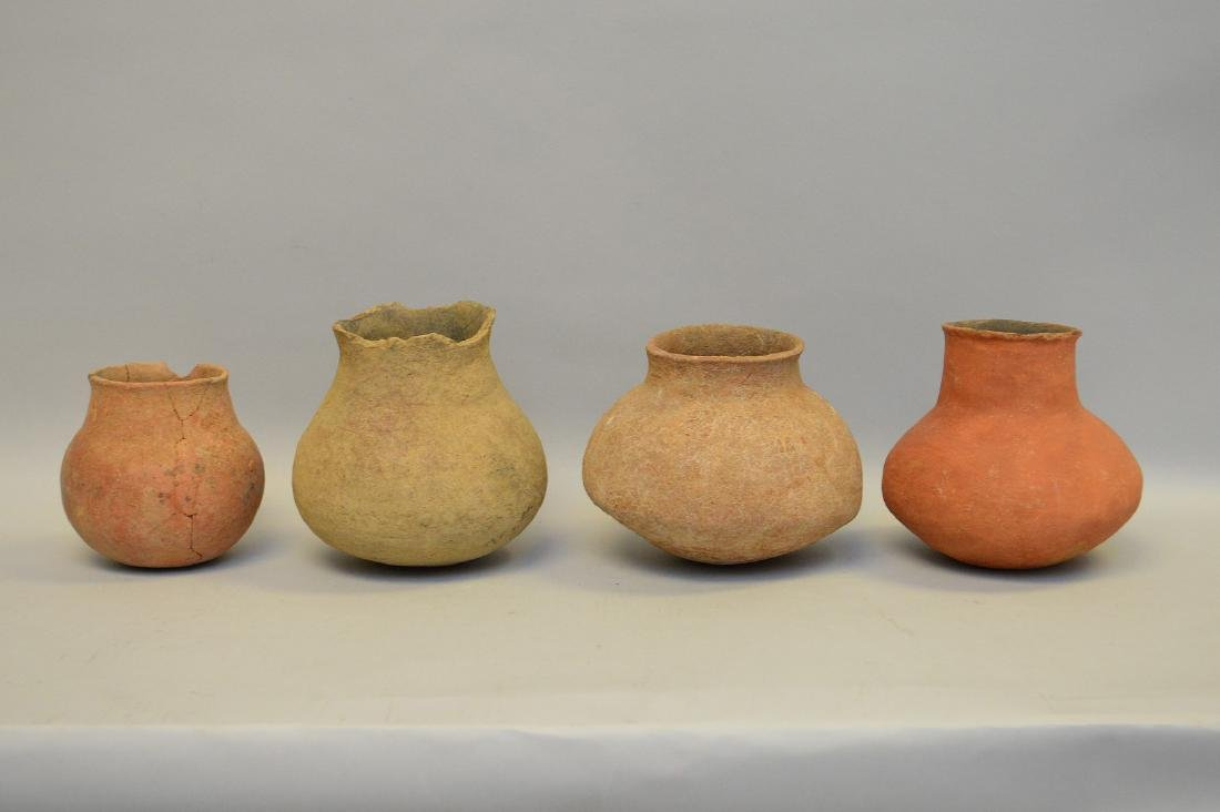 Four Salado Culture Native American Pottery Ollas, ca.