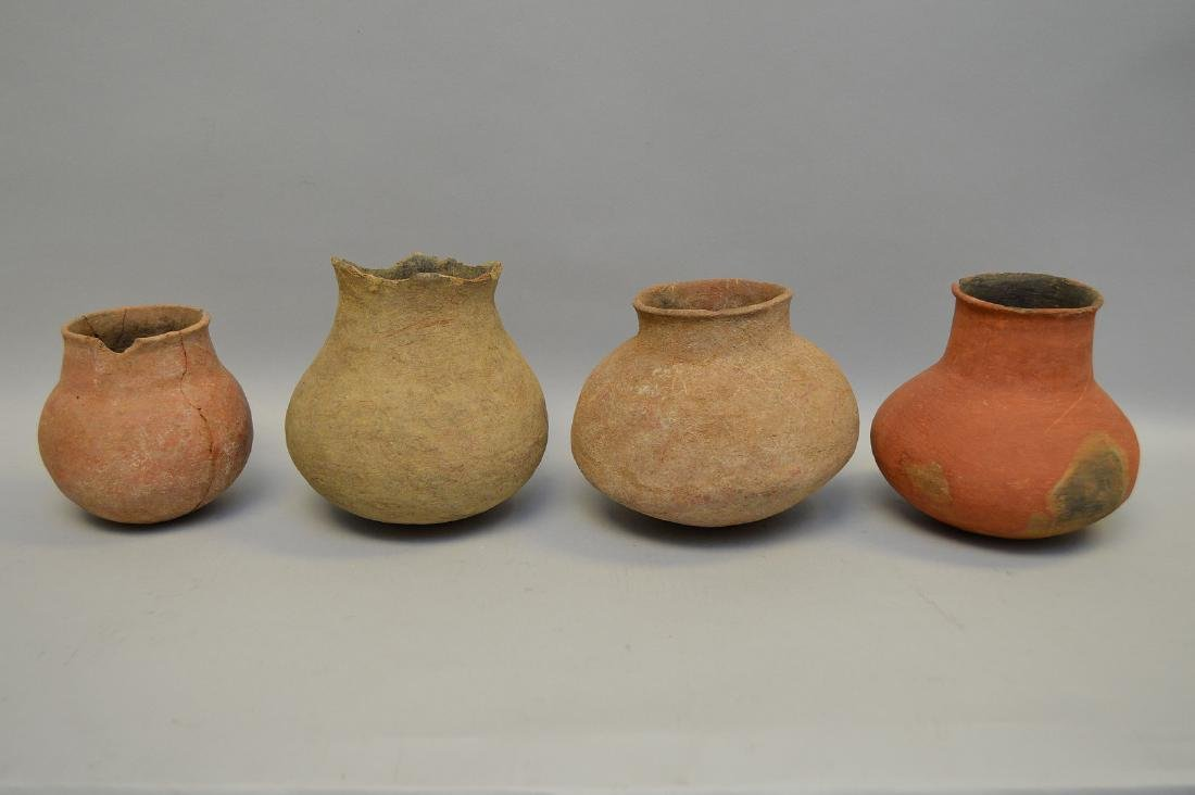 Four Salado Culture Native American Pottery Ollas, ca. - 4