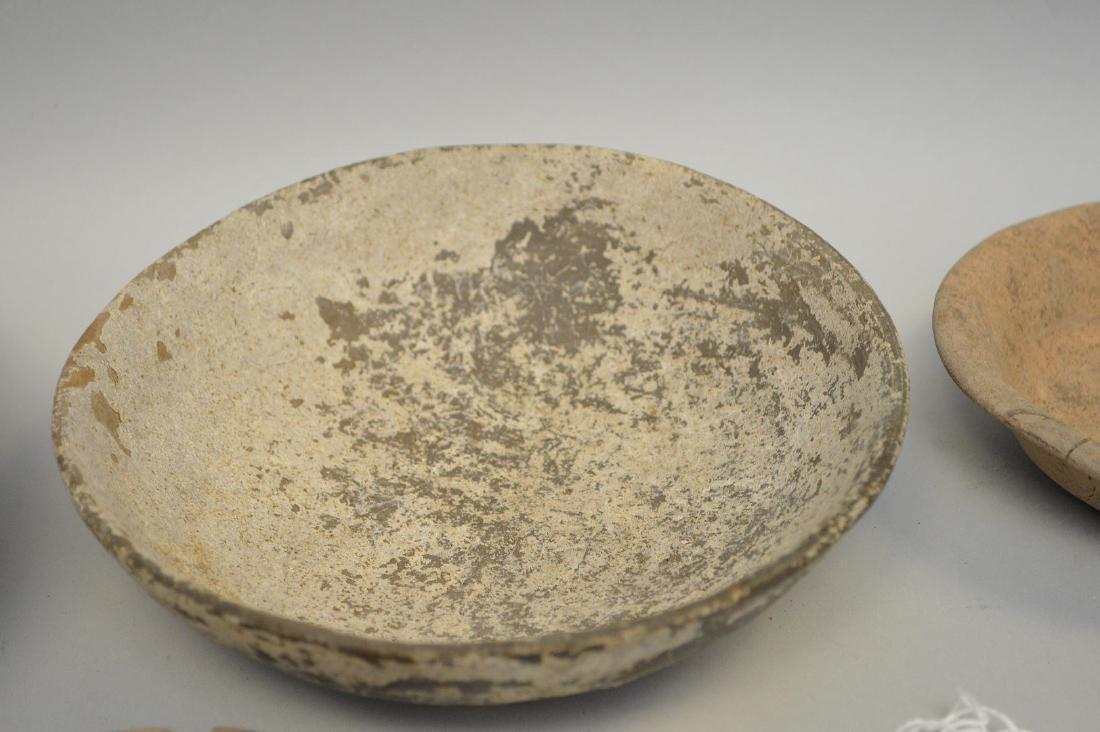 "Six Shallow Pre-Columbian Pottery Bowls. 4 - 7.5"" - 4"