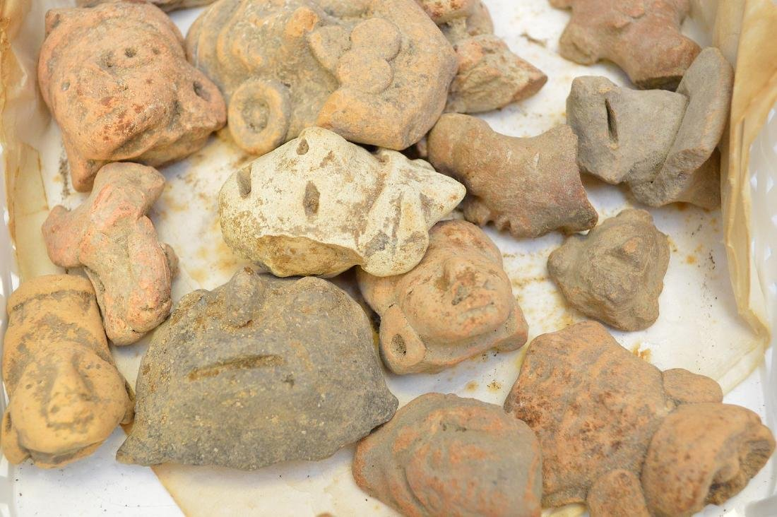 Collection of Pre-Columbian Pottery Figurine Heads. - 2