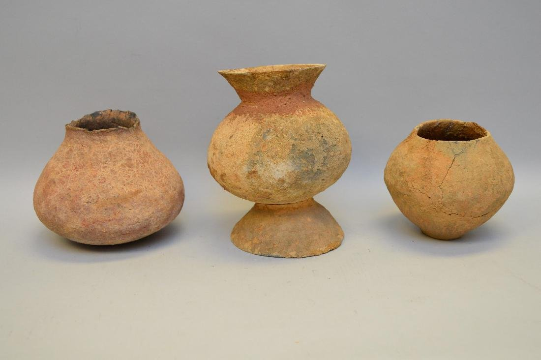 Three Salado Culture Native American Pottery Vessels. - 2