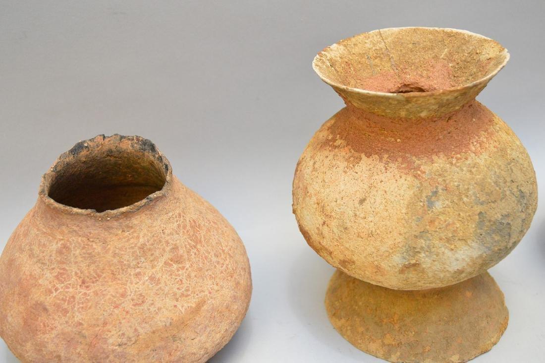 Three Salado Culture Native American Pottery Vessels. - 3