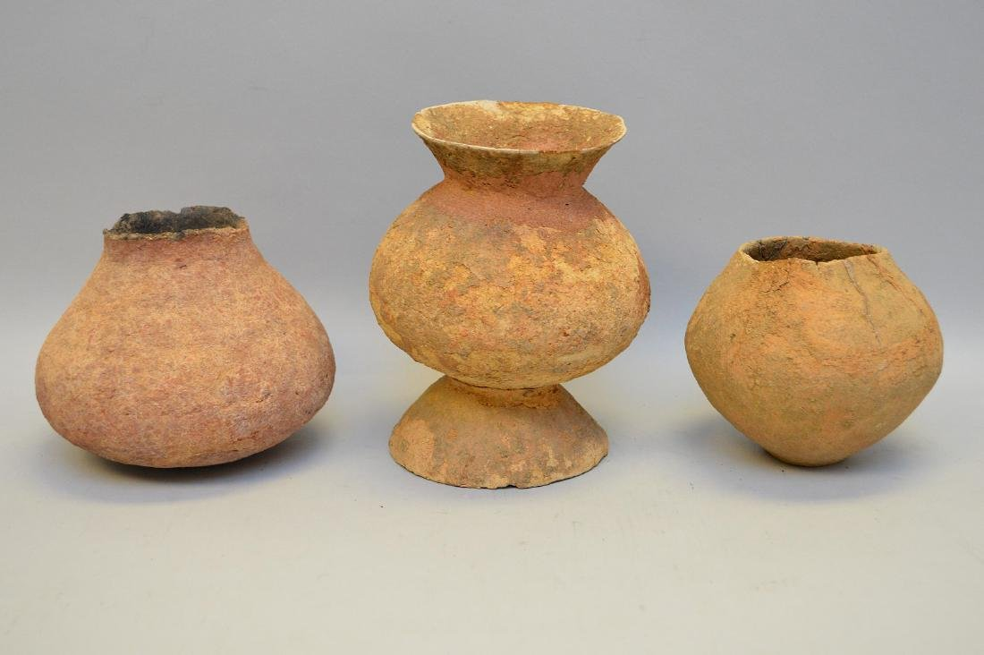 Three Salado Culture Native American Pottery Vessels. - 5