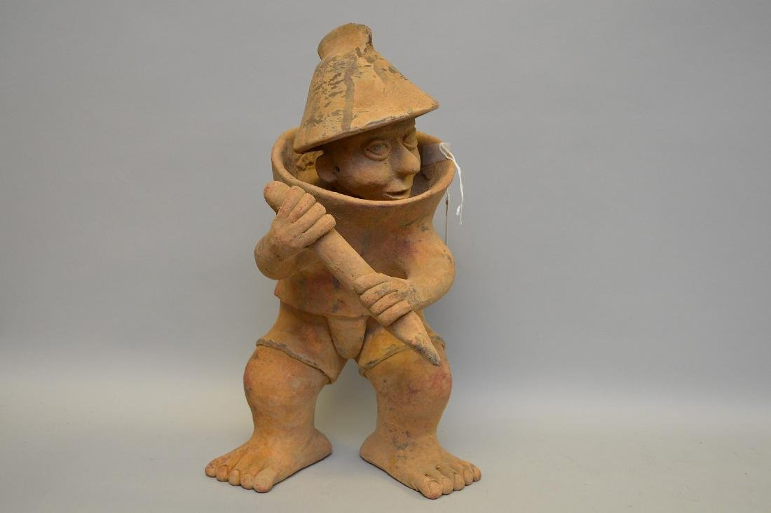 Jalisco Warrior Pottery Sculpture Pre-Columbian.
