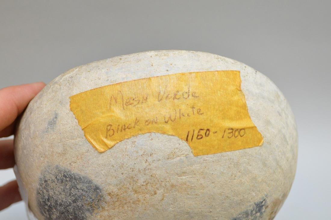 Mesa Verde Black-on-White Geometric Pottery Bowl - 4