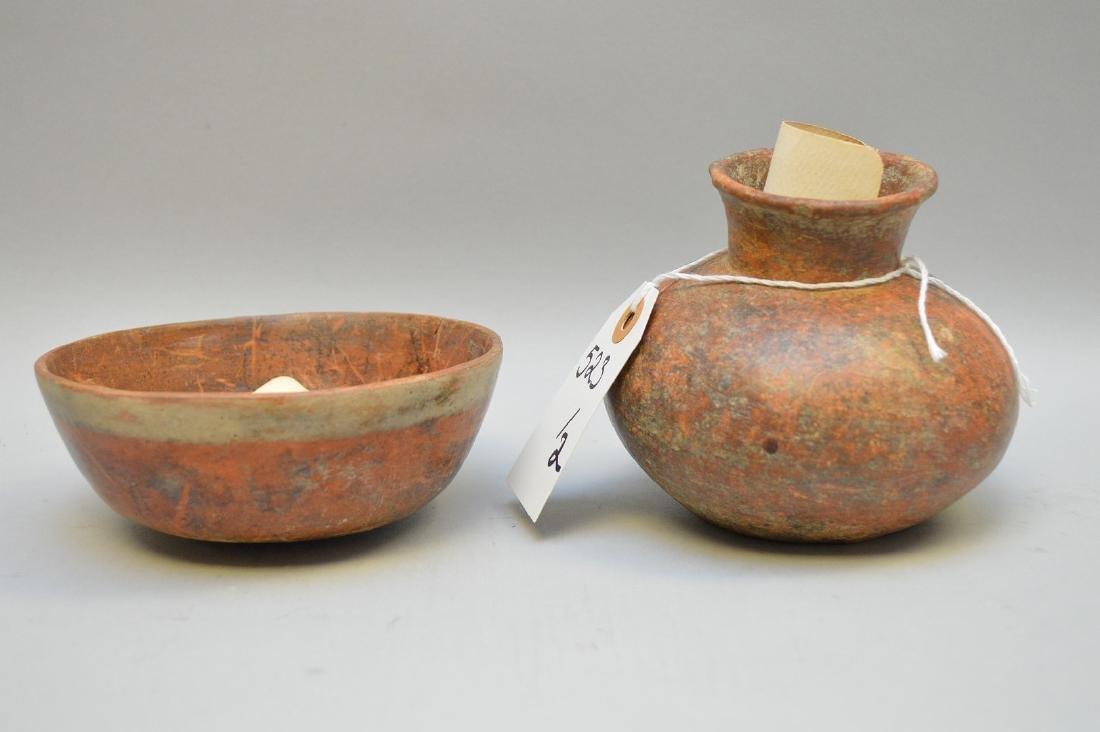 Pre-Columbian Pottery Nayarit Olla & Bowl (ca ~100 AD - - 2