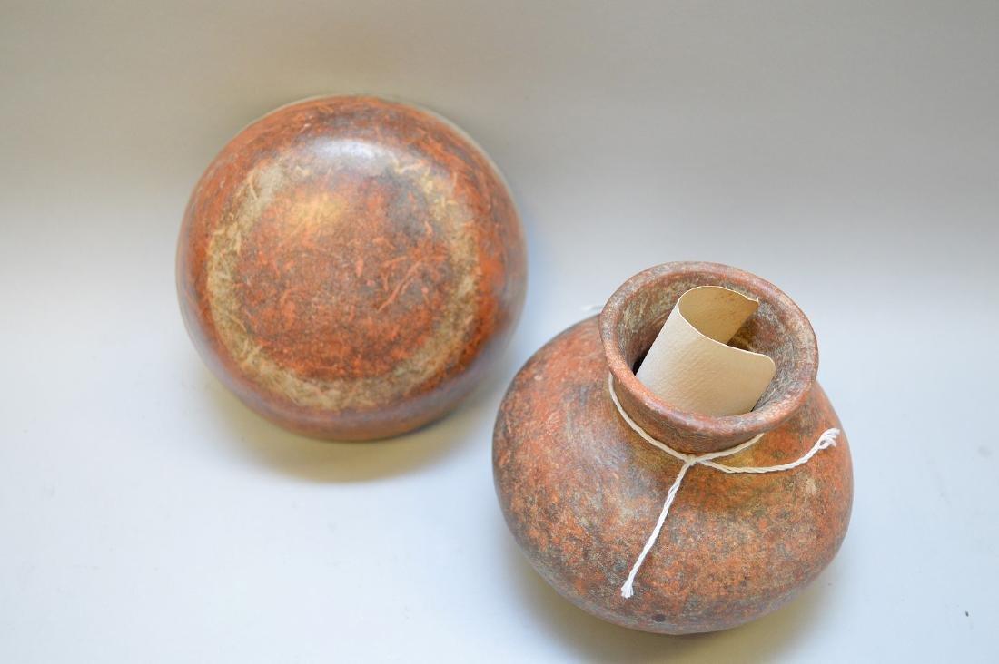 Pre-Columbian Pottery Nayarit Olla & Bowl (ca ~100 AD - - 4