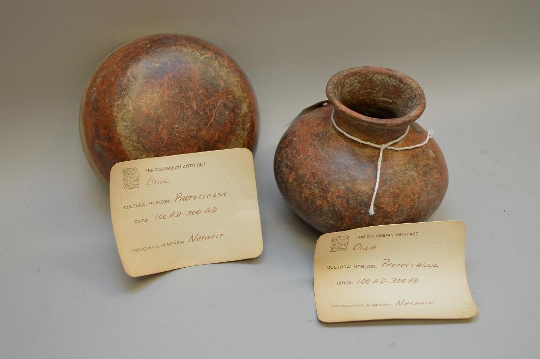 Pre-Columbian Pottery Nayarit Olla & Bowl (ca ~100 AD - - 5