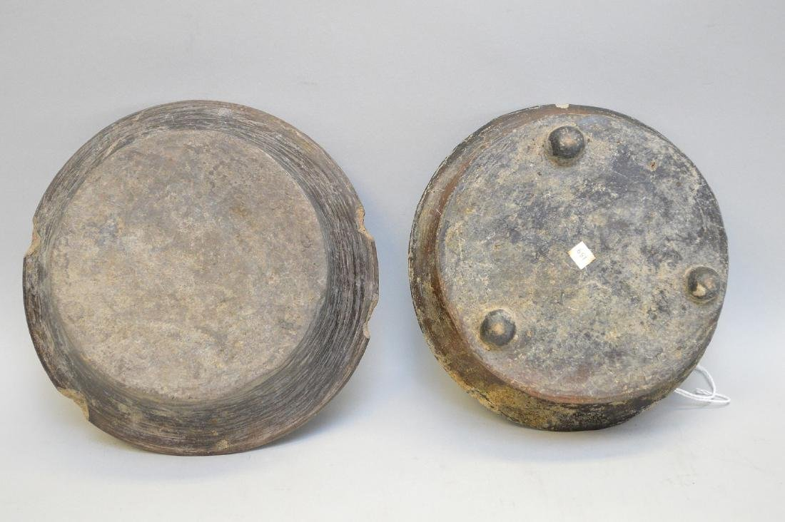 Two Pre-Columbian Flaring Black Ware Pottery Bowls - 5