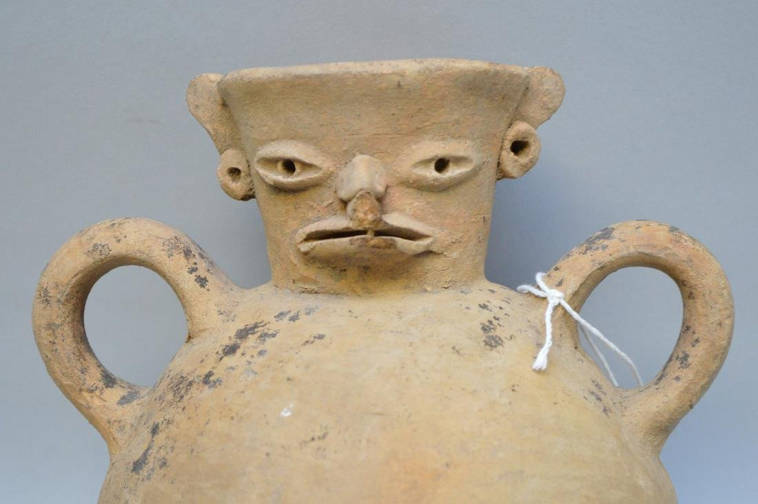 Pre-Columbian Bird Effigy Double Handled Pottery Jug. - 2