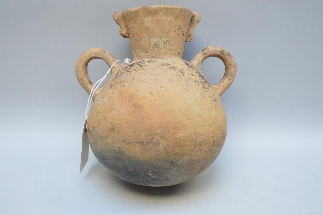 Pre-Columbian Bird Effigy Double Handled Pottery Jug. - 3