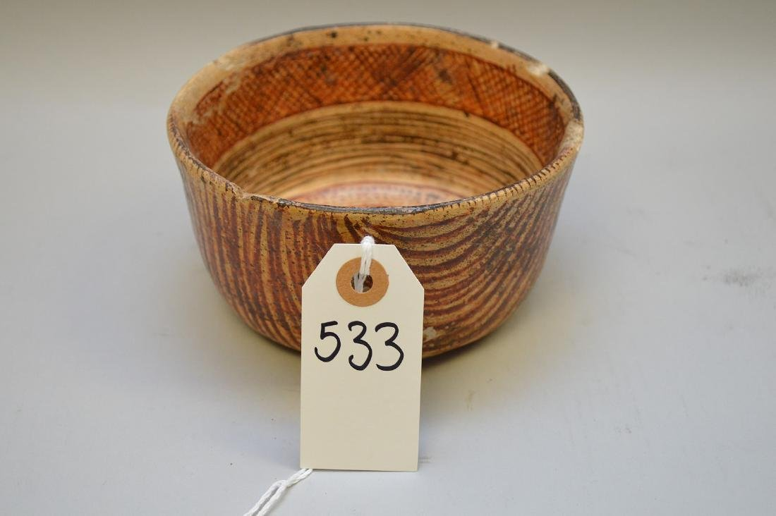 Pre-Columbian Nayarit Polychrome Snake Pottery Bowl