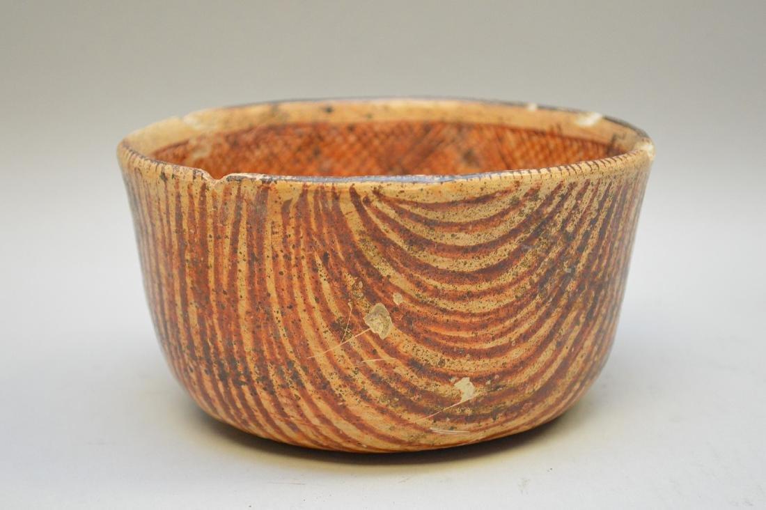 Pre-Columbian Nayarit Polychrome Snake Pottery Bowl - 2