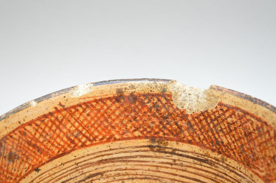 Pre-Columbian Nayarit Polychrome Snake Pottery Bowl - 4