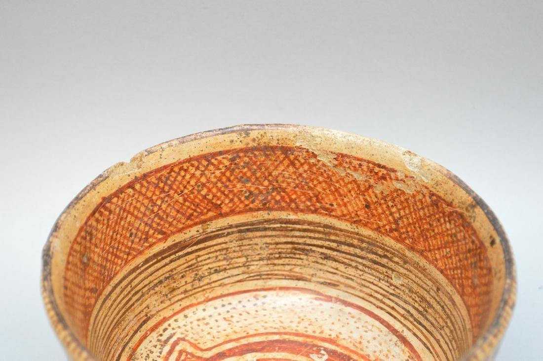 Pre-Columbian Nayarit Polychrome Snake Pottery Bowl - 5