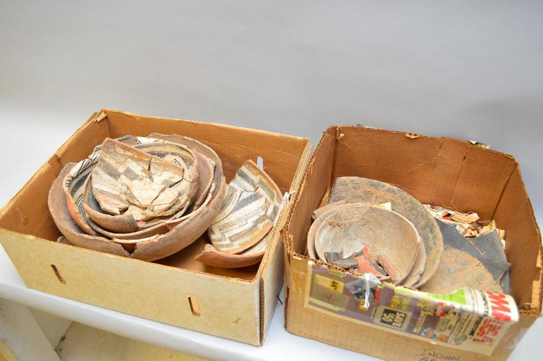 Fractured Anasazi Gila Polychrome & Salado Pottery