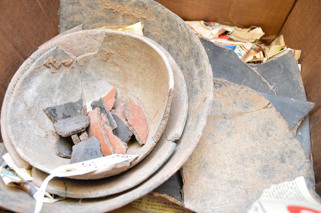 Fractured Anasazi Gila Polychrome & Salado Pottery - 3