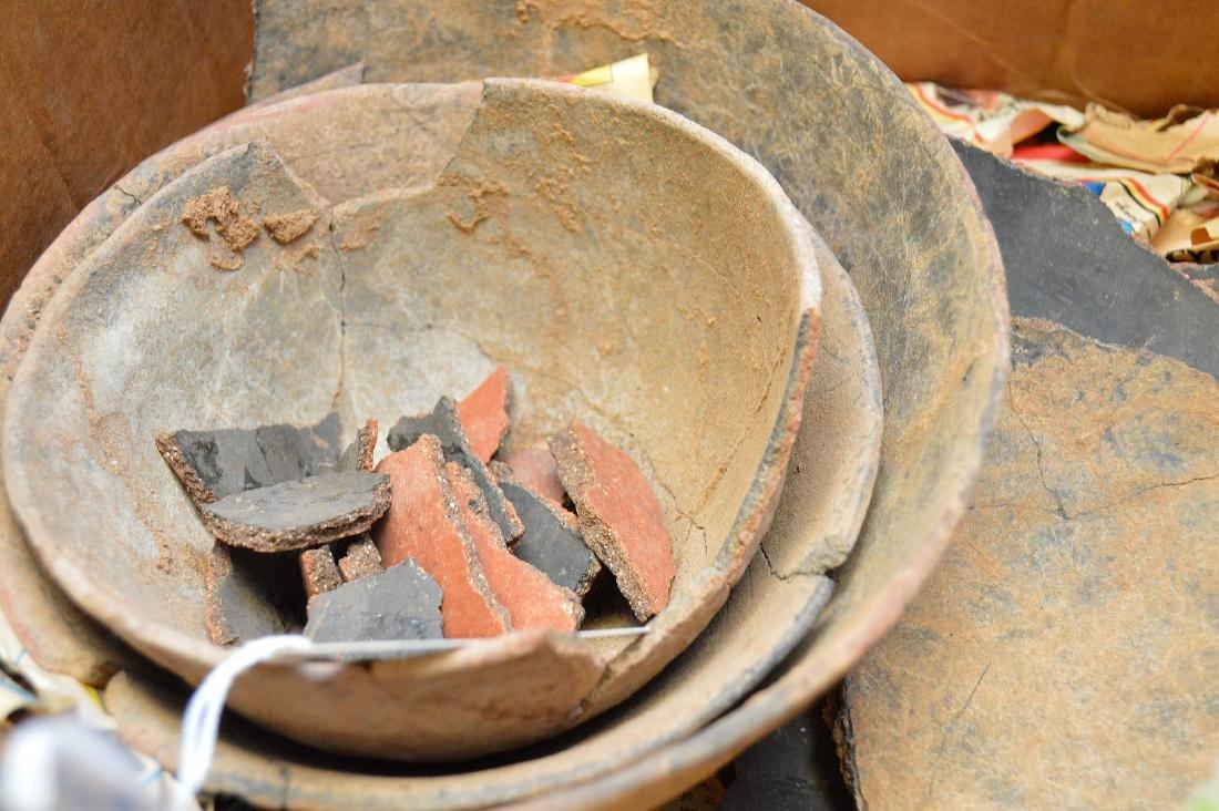 Fractured Anasazi Gila Polychrome & Salado Pottery - 4