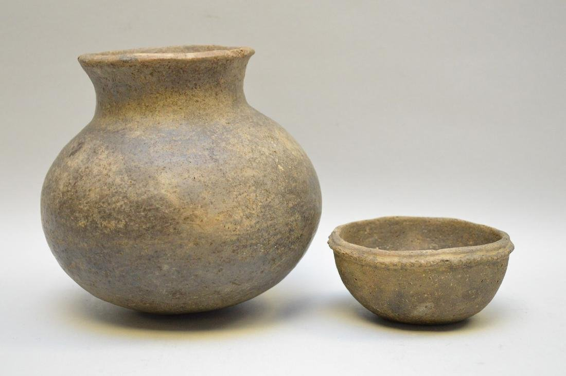 Middle Mississippian Pottery Urn & Bowl (ca ~ 1100AD - - 2