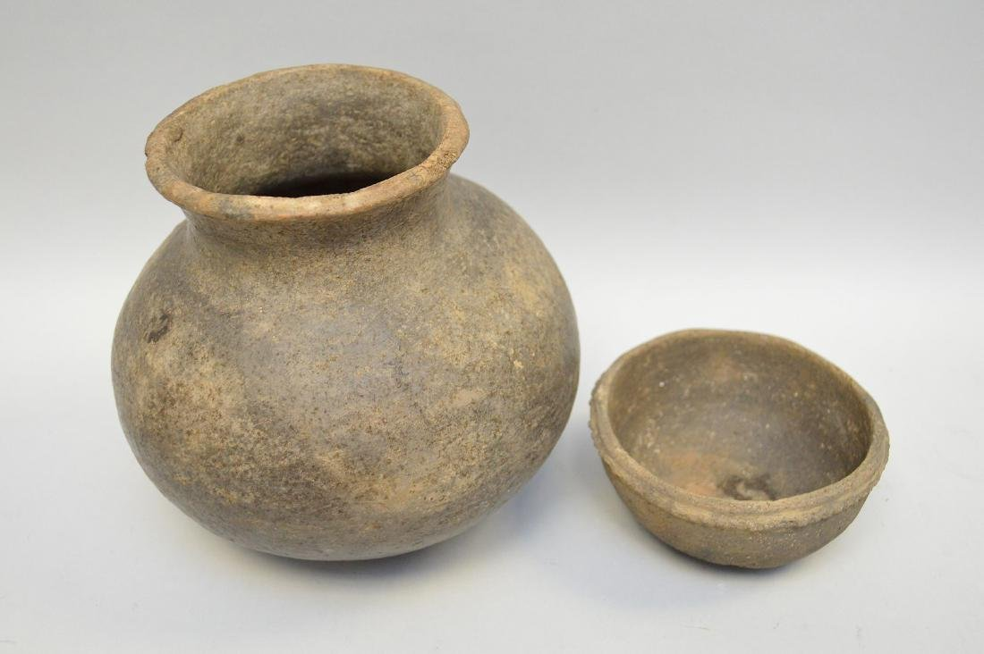 Middle Mississippian Pottery Urn & Bowl (ca ~ 1100AD - - 3