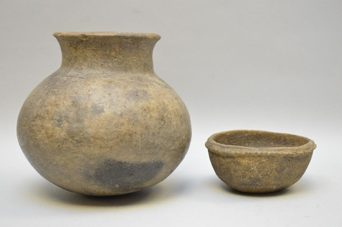 Middle Mississippian Pottery Urn & Bowl (ca ~ 1100AD - - 4