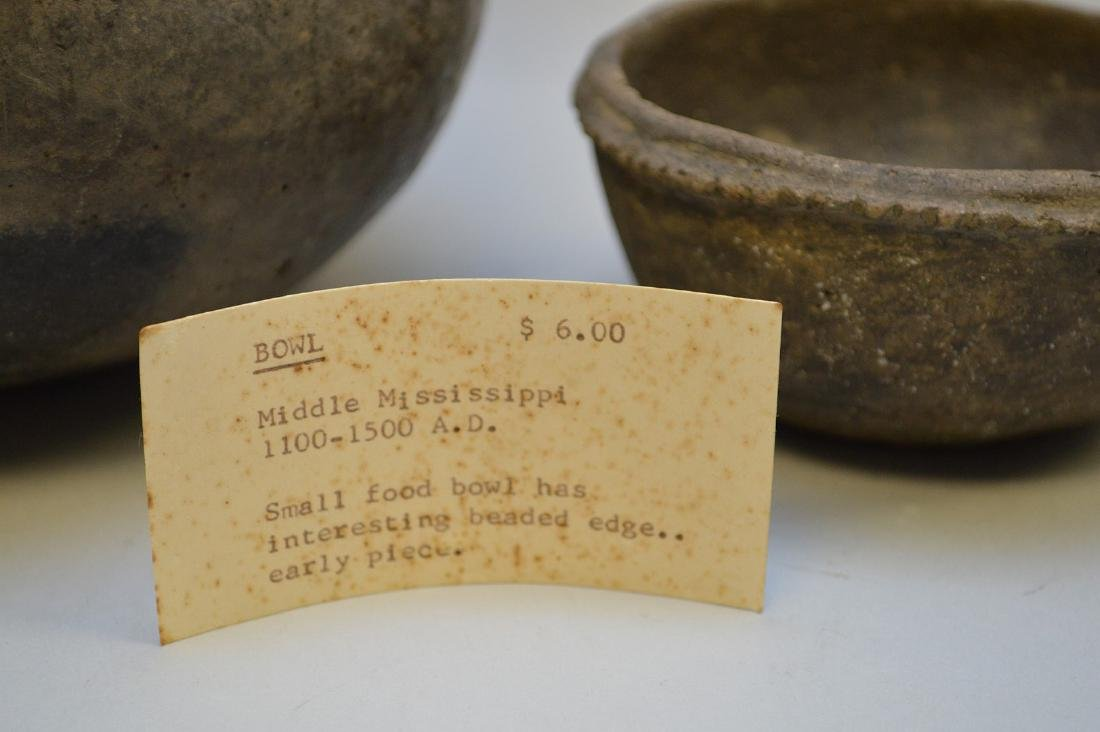 Middle Mississippian Pottery Urn & Bowl (ca ~ 1100AD - - 5