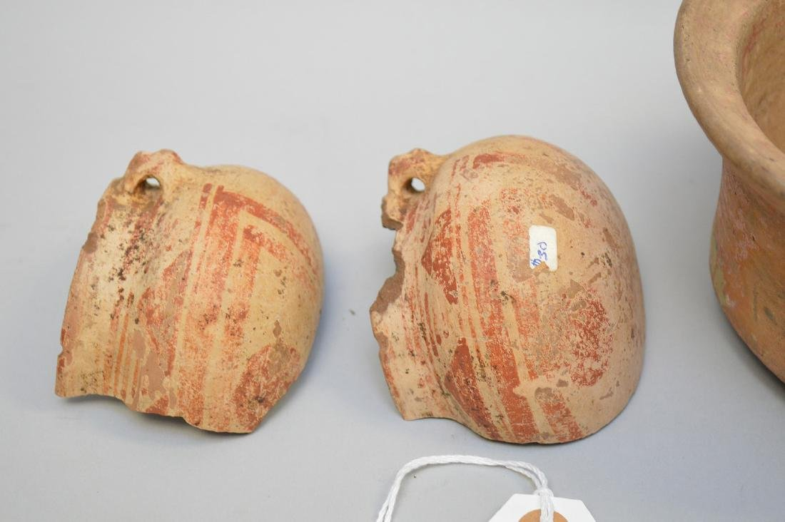 Pre-Columbian Polychrome Pottery Bowl and Small Pot- El - 4