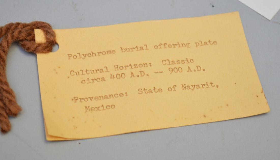 Pre-Columbian Polychrome Pottery Tripod Plate w/Sun - 4