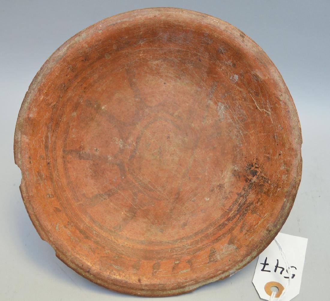 Pre-Columbian Polychrome Pottery Tripod Plate w/Sun - 5