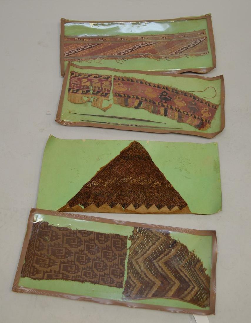 Six Pre-Columbian South American Textile Fragments -
