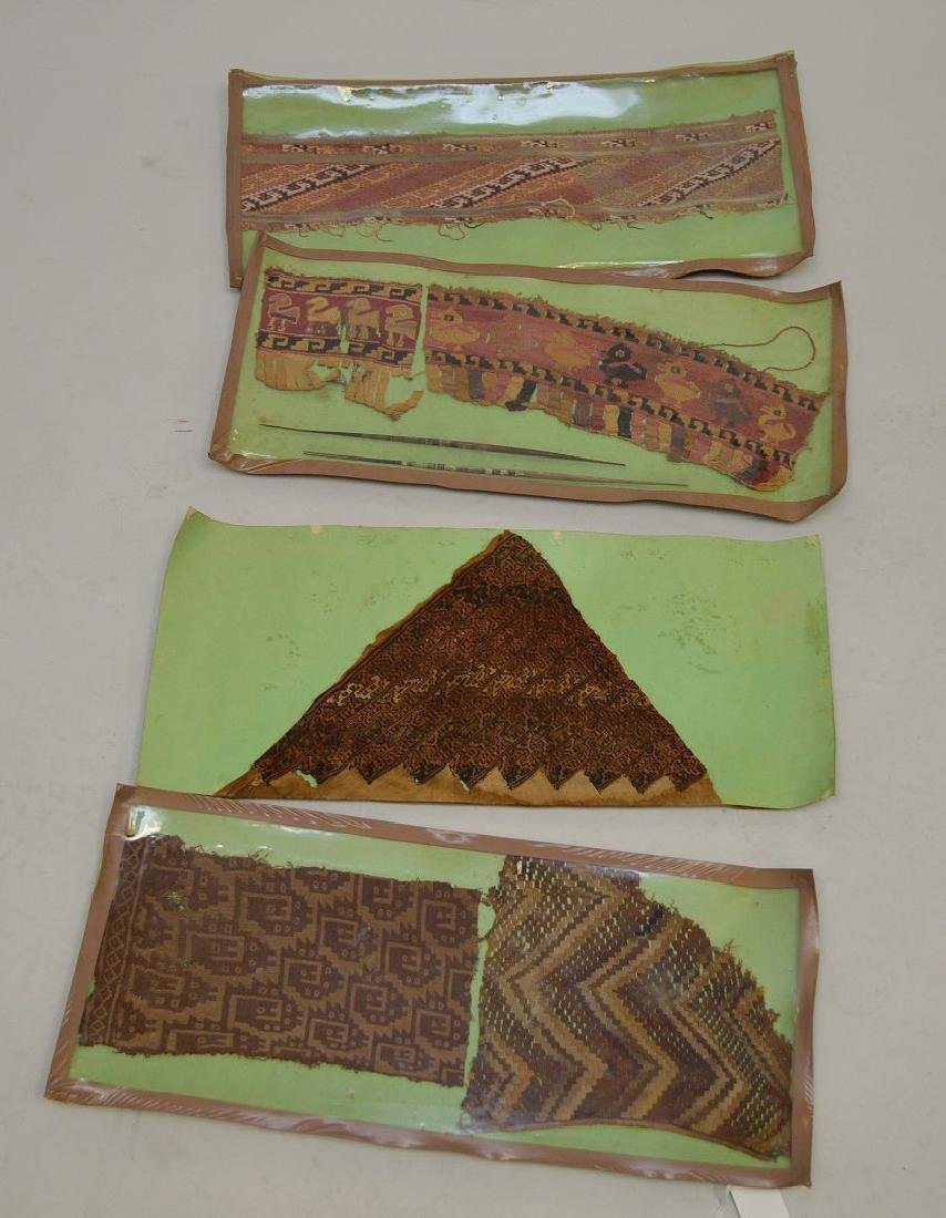 Six Pre-Columbian South American Textile Fragments -