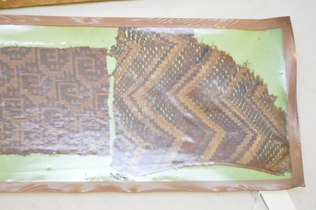Six Pre-Columbian South American Textile Fragments - - 2