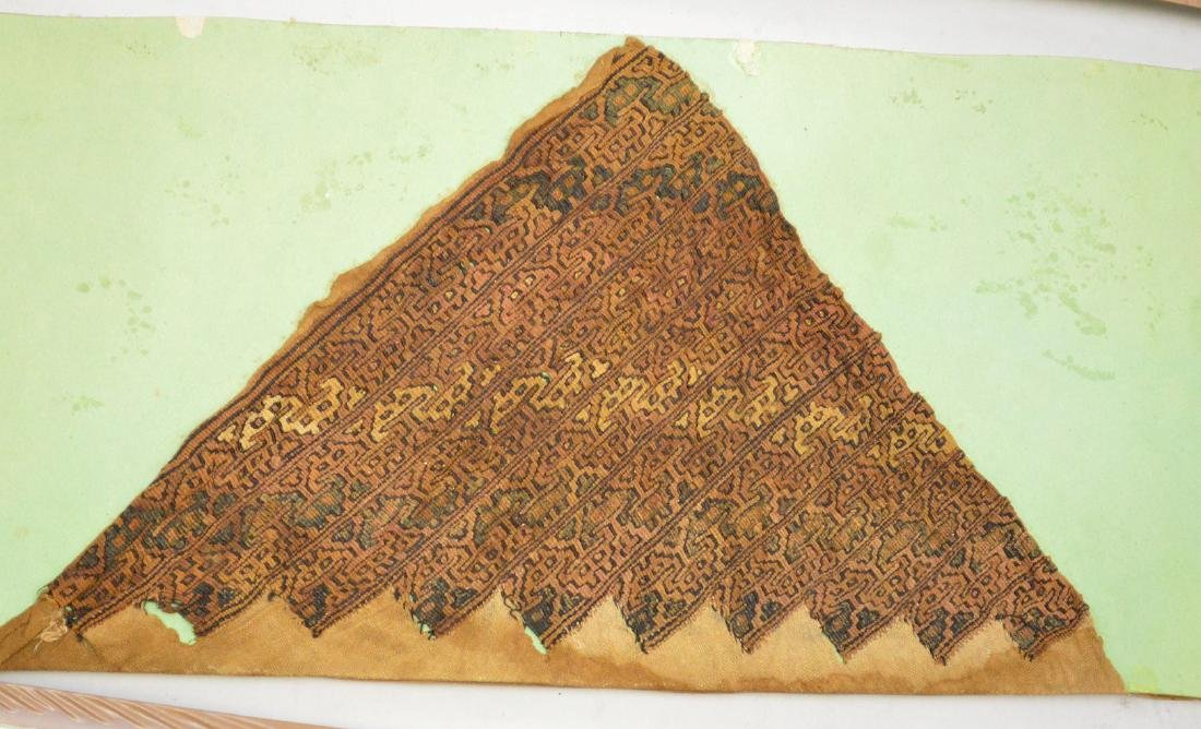 Six Pre-Columbian South American Textile Fragments - - 4