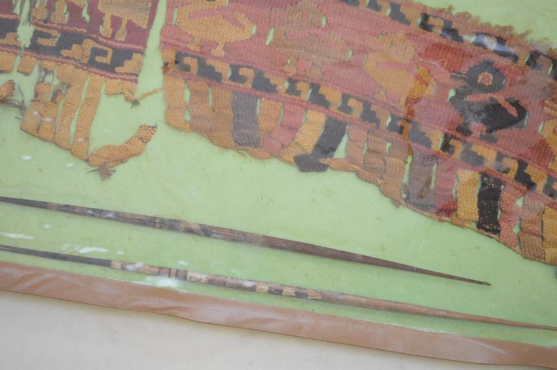 Six Pre-Columbian South American Textile Fragments - - 5
