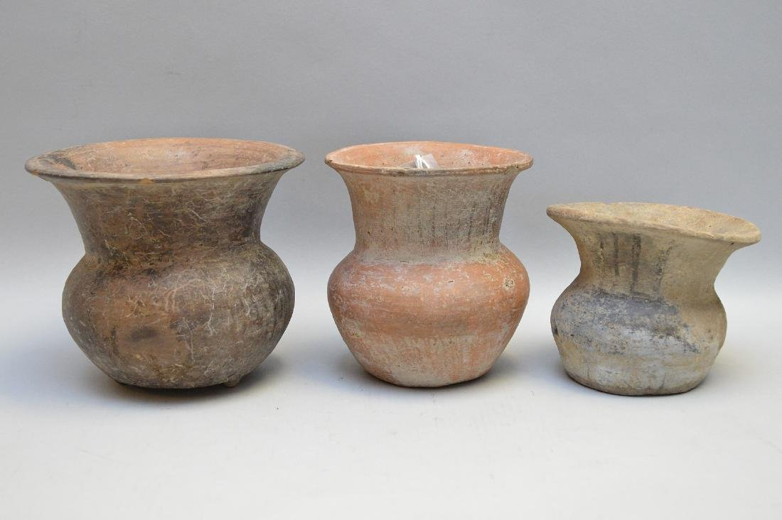 Three Pre-Columbian South American Pottery Vases -