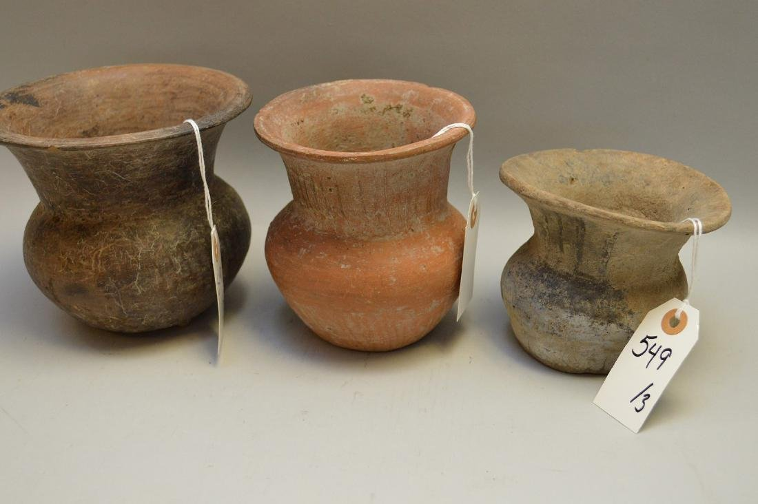 Three Pre-Columbian South American Pottery Vases - - 6