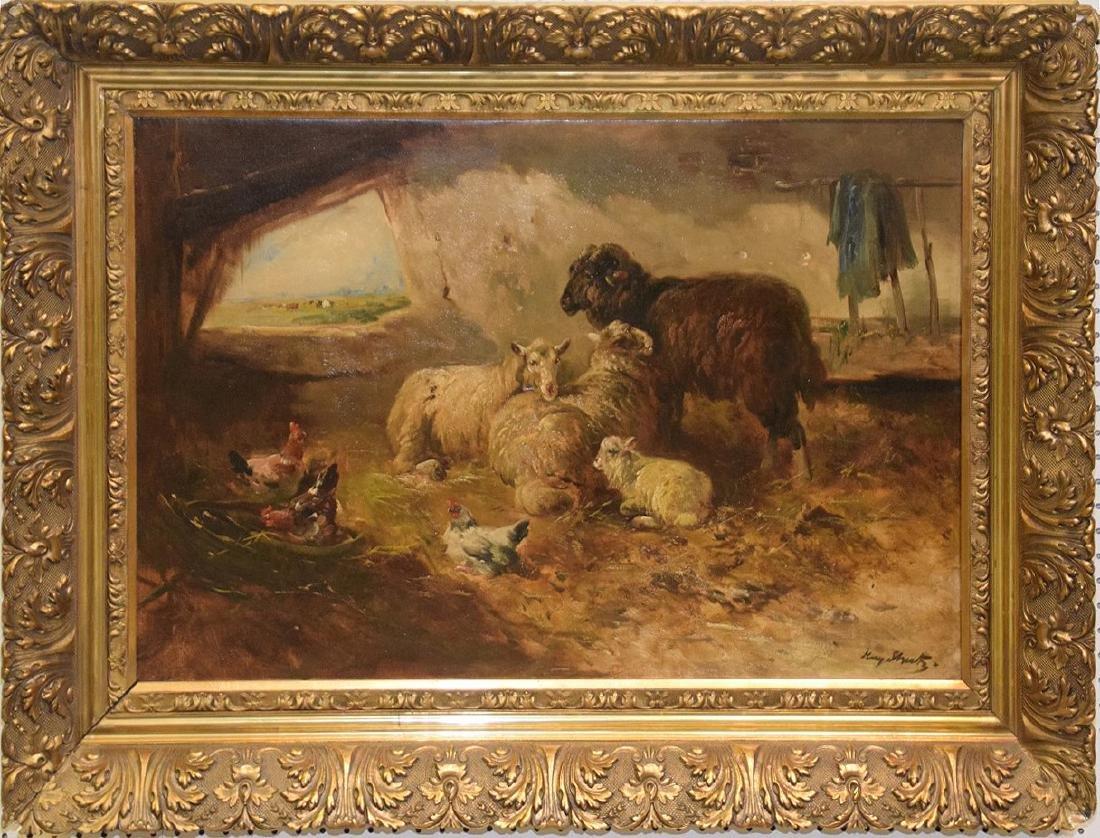 Henry Schouten (Belgian 1864/1867-1927) oil on canvas