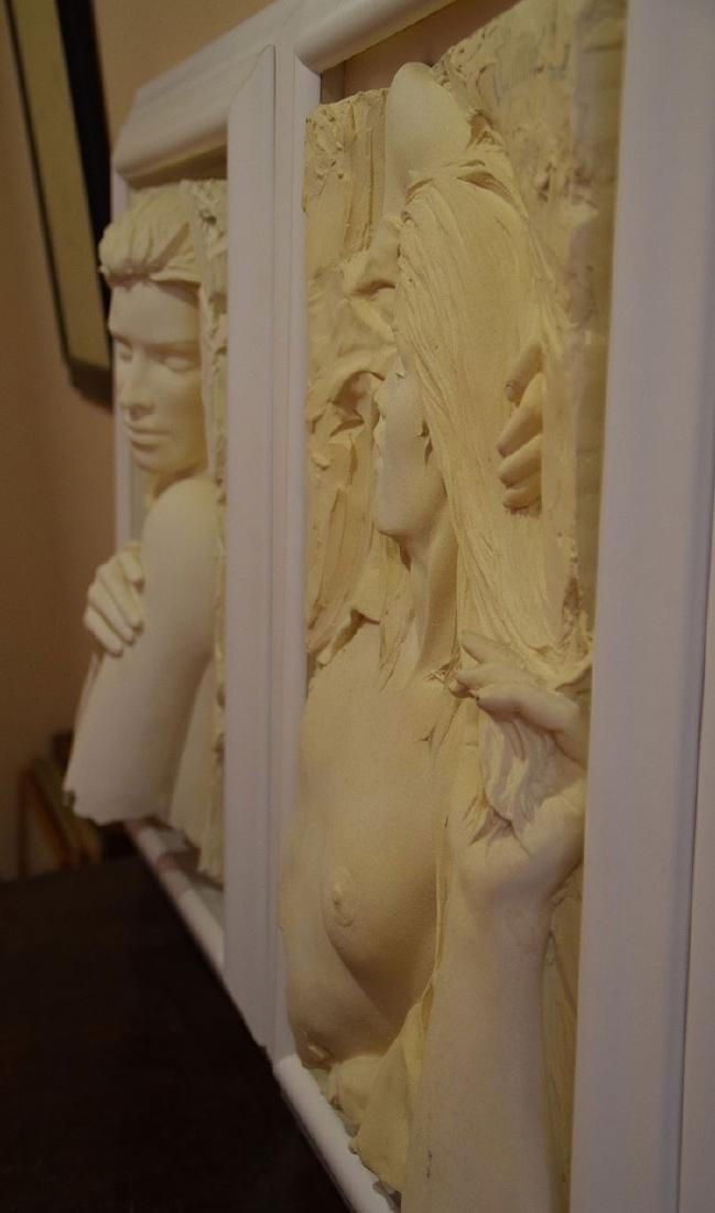 Bill Mack (American, born 1949)  Pair Nude sand casts, - 5