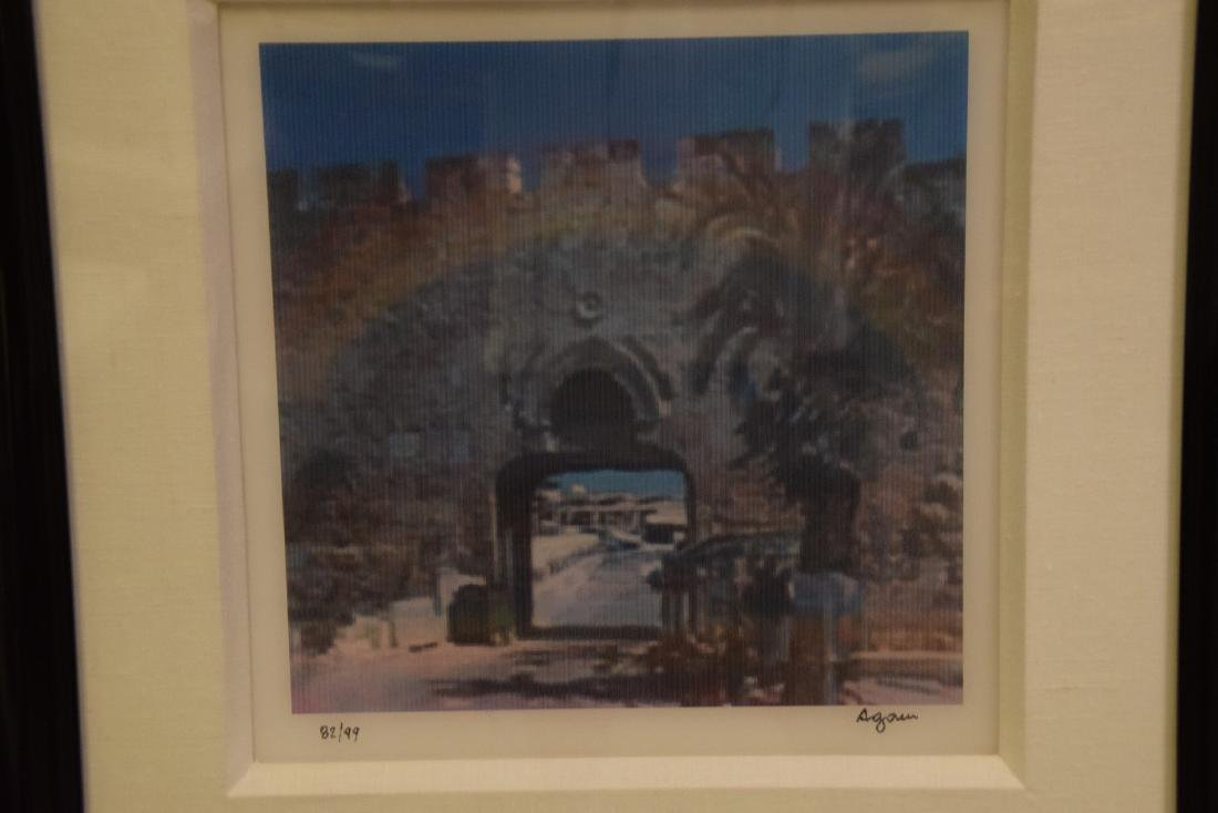 Yaacov Agam (ISRAELI, 1928)  JERUSALEM DOUBLE RAINBOW - 2