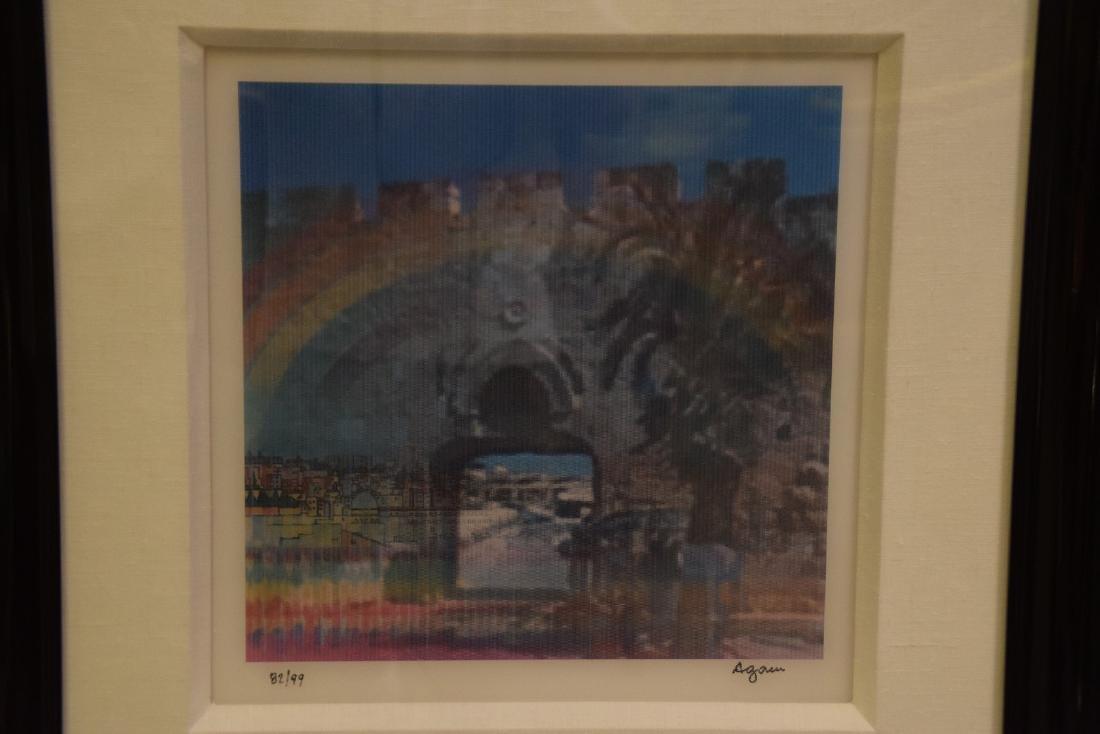 Yaacov Agam (ISRAELI, 1928)  JERUSALEM DOUBLE RAINBOW - 4