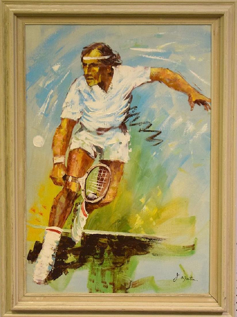 Judy Marten, oil on canvas, Bjorn Borg tennis champ