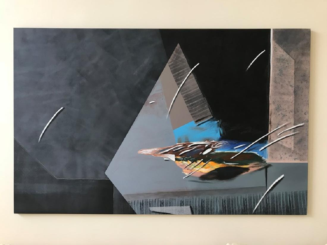 Large Modern Abstract Painting by Gronowski '89, 60 in.