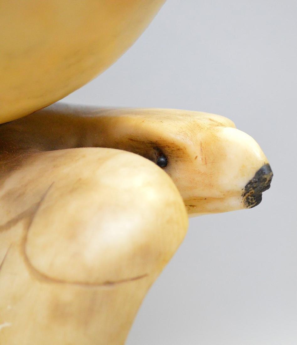 """Alabaster Eagle lamp, 17 1/2""""h - 6"""
