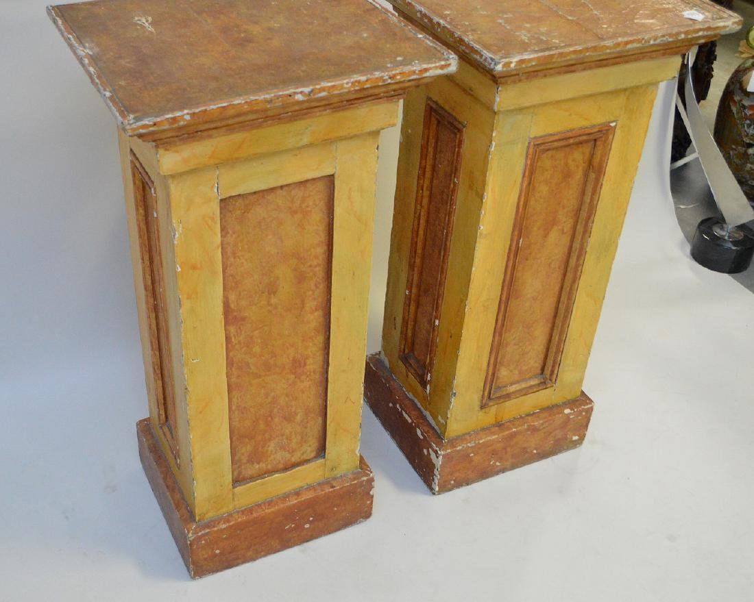 "Pair painted wood pedestals, 36""h x 17 1/2"" square - 5"