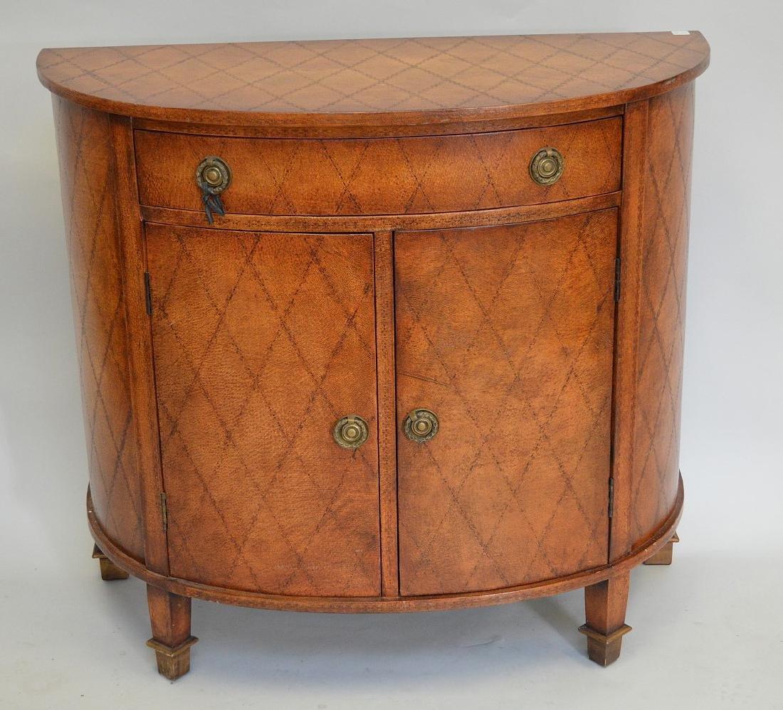 """Maitland Smith demi-lune cabinet, 36""""h x 39 1/2""""w x"""