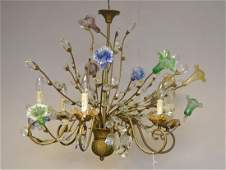 Murano Chandelier circa 1920's. Comprised of 10 Hand